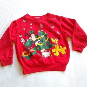 Vintage Mickey kids 3t Disney Christmas sweatshirt